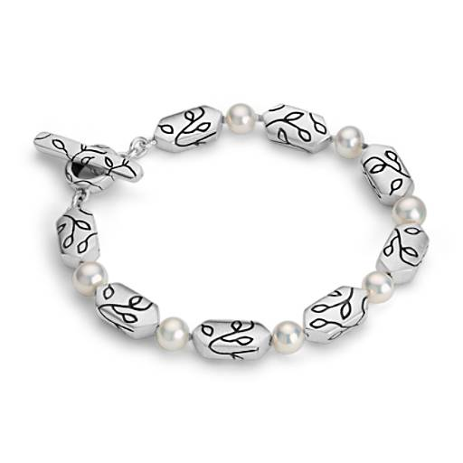 Lisa Jenks Freshwater Cultured Pearl Bracelet in Sterling Silver (6mm)
