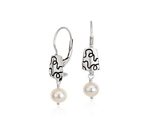 Lisa Jenks Freshwater Cultured Pearl Earrings in Sterling Silver