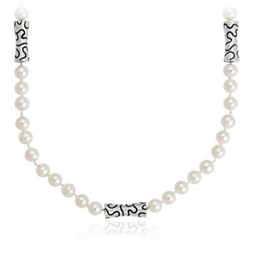 Lisa Jenks Freshwater Cultured Pearl Necklace in Sterling Silver (5mm)