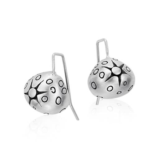 Lisa Jenks Starburst Earrings in Sterling Silver