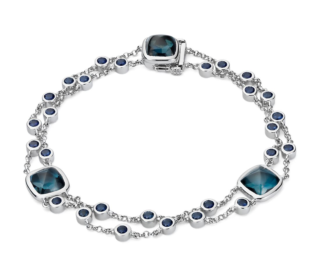 Blue Nile Studio London Blue Topaz And Sapphire Bracelet