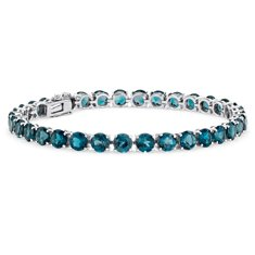 London Blue Topaz Bracelet in Sterling Silver (5mm)