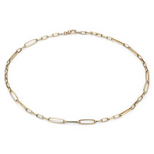 Long Link Necklace in 18k Yellow Gold