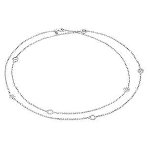 Frances Gadbois Long Disc Station Link Necklace in Sterling Silver
