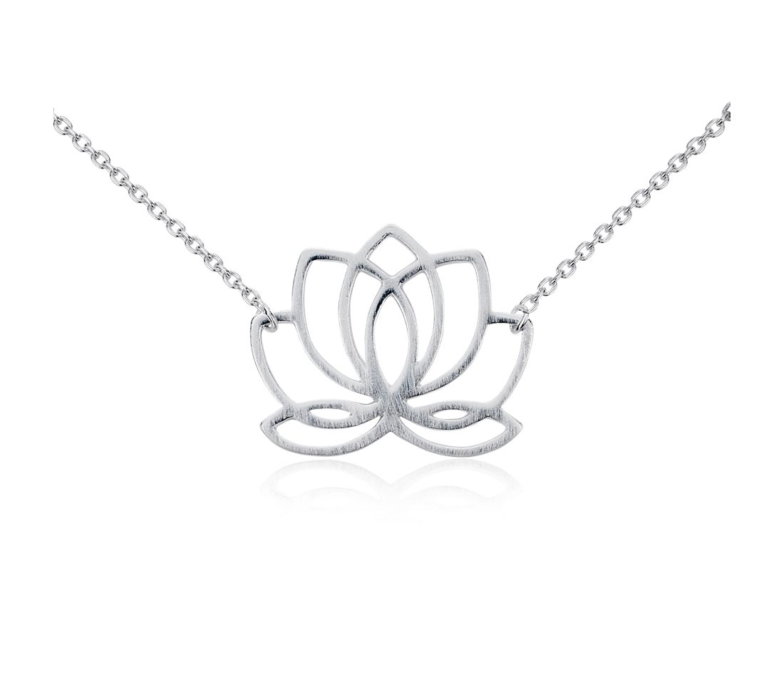 Collier lotus en argent sterling