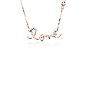 Collier Love en or rose 14 carats
