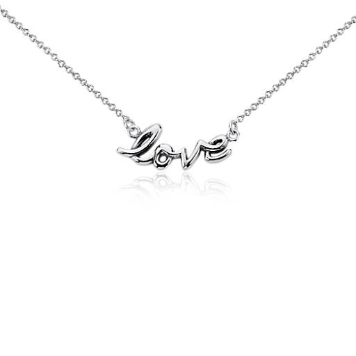Collier « Love » en argent sterling