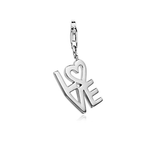 Love Charm in Sterling Silver