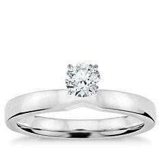 铂金低圆拱内圈卜身设计单订婚戒指(2.5毫米)