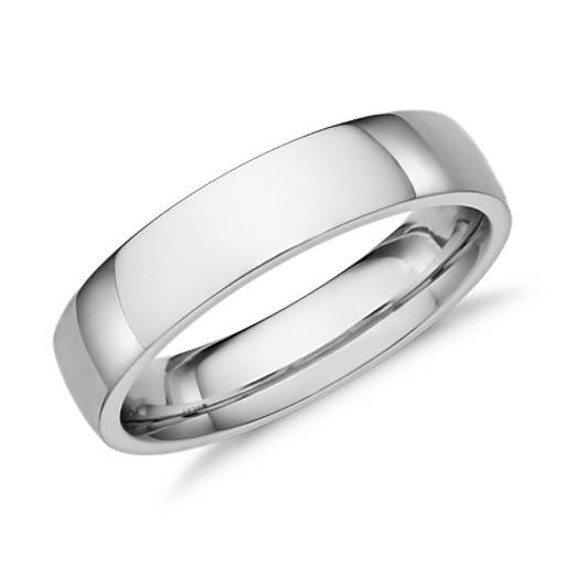 NEW Low Dome Comfort Fit Wedding Ring in Platinum (5mm)