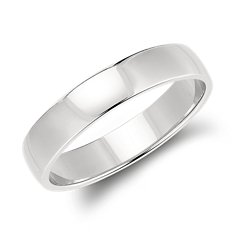 Low Dome Wedding Ring in Platinum (5mm)