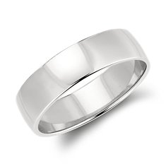 Low Dome Wedding Ring in Platinum (6mm)