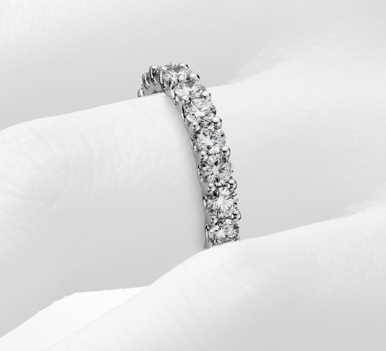 Luna Diamond Eternity Ring in Platinum (2 ct. tw.)