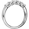 Luna Five-Stone Diamond Ring in 14k White Gold (3/4 ct. tw.)