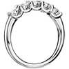 Luna Five Stone Diamond Ring in Platinum (1 ct tw)