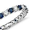 Luna Sapphire and Diamond Eternity Ring in 14k White Gold (5/8 ct. tw.)