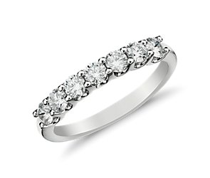 Luna Seven-Stone Diamond Ring in 14k White Gold (1/2 ct. tw.)