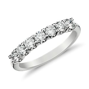 Luna Seven Stone Diamond Ring in 14k White Gold (1/2 ct. tw.)