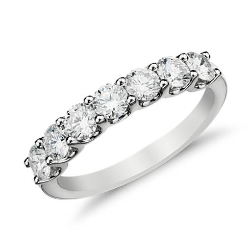 Luna Seven-Stone Diamond Ring in 14k White Gold (1 ct. tw.)