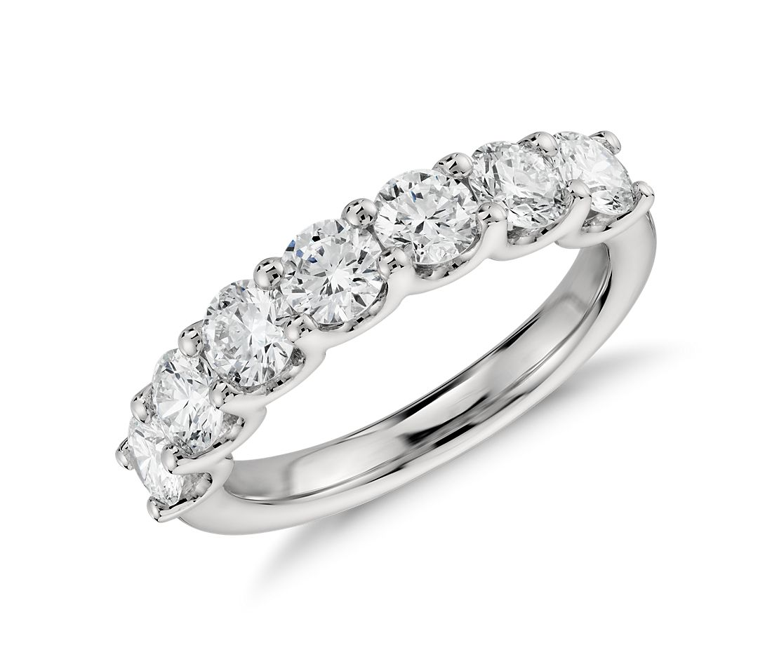 Luna Seven Stone Diamond Ring in Platinum (1.5 ct tw)
