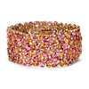 Mandarin Garnet, Spinel and Diamond Bracelet in 18k Yellow Gold