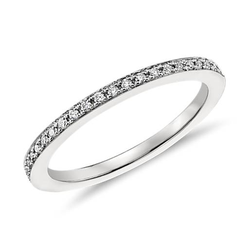 Monique Lhuillier Pavé Wedding Band in Platinum