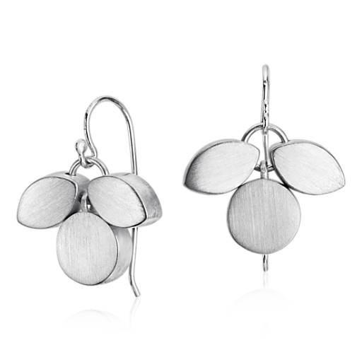 Bree Richey Petal Drop Earrings in Sterling Silver