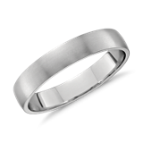 Classic Matte Wedding Ring in Platinum (4mm)