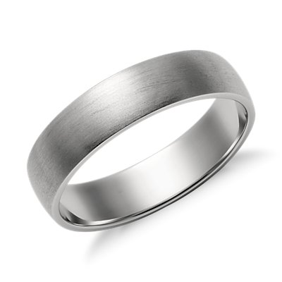 Matte Classic Wedding Ring in Platinum (5mm)