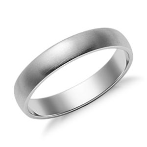 NEW Matte Classic Wedding Ring in 14k White Gold (4mm)