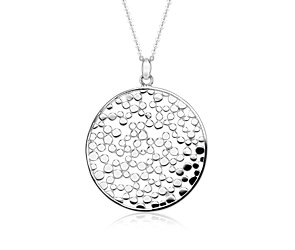 Medallion Pendant in Sterling Silver