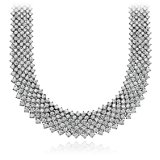 Statement Mesh Diamond Necklace in 18k White Gold (55.77 ct. tw.)