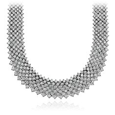 Collier impressionnant en diamants mesh en Or blanc 18 ct (55.77 ct. tw.)