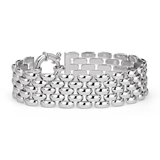 Mesh Linked Bracelet in Sterling Silver