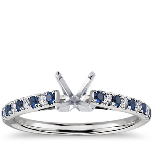 Riviera Pav 233 Sapphire And Diamond Ring In Platinum 1 5mm