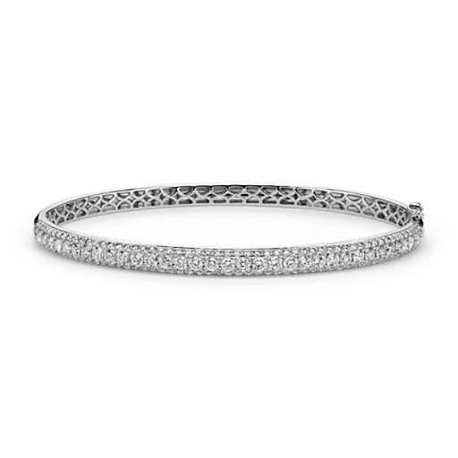 Micropavé-Set Diamond Bangle in 18k White Gold (2.5 ct. tw.)