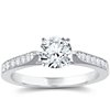 Milgrained Micropavé Diamond Engagement Ring in Platinum (1/6 ct. tw.)