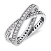 Milgrain Pavé Unity Diamond Ring in 14K White Gold