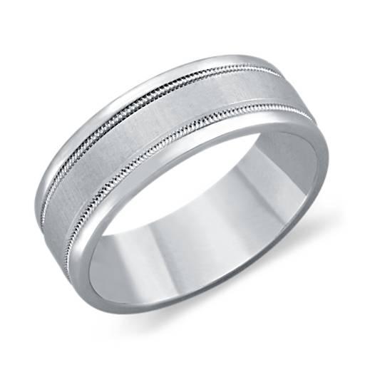 Milgrain Wedding Ring in Platinum (7mm)