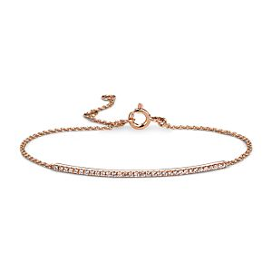 Delicate Diamond Bar Bracelet in 14k Rose Gold (1/5 ct. tw.)
