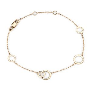 Mini Circle Bracelet in 14k Yellow Gold