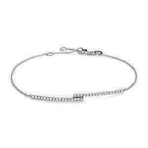 Diamond Bar Bracelet in 14k White Gold (1/4 ct. tw.)
