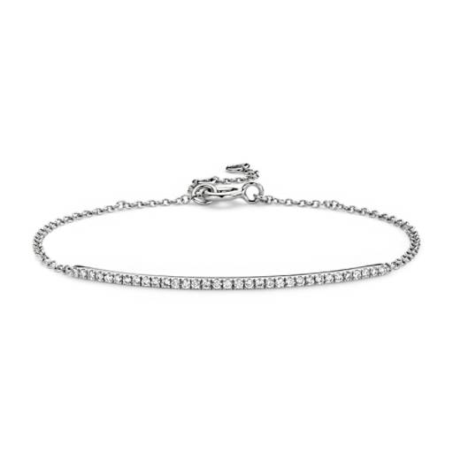 Diamond Bar Bracelet in 14k White Gold (2/5 ct. tw.)