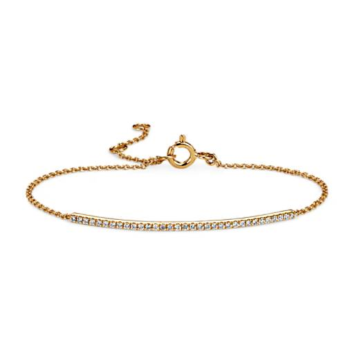 Diamond Bar Bracelet in 14k Yellow Gold (2/5 ct. tw.)