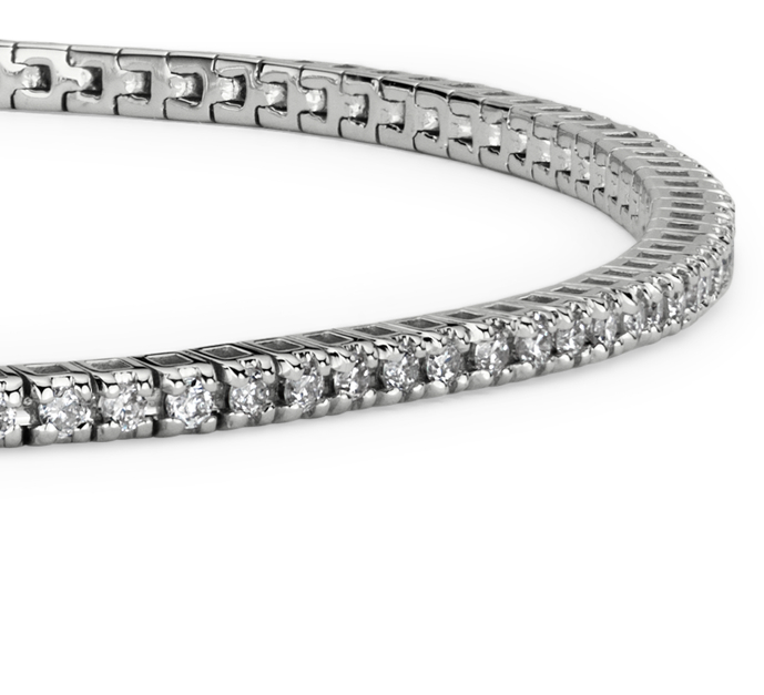 Brazalete de tenis de diamantes en oro blanco de 14k (5/8 qt. total)