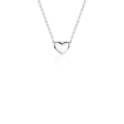 Petit collier cœur en platine