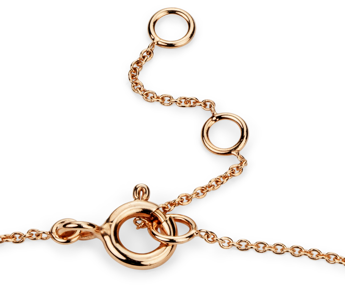 Mini Bar Diamond Bracelet in 14k Rose Gold