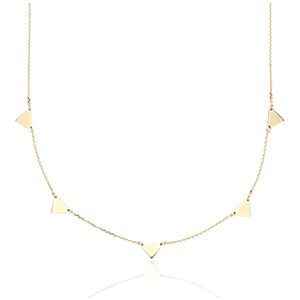 NEW Mini Triangle Station Necklace in 14k Yellow Gold