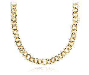Mini collier Tubogas à maillons en or jaune 14carats