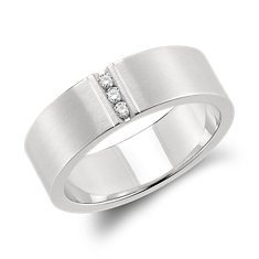 Modern Channel Diamond Ring in Platinum (1/12 ct. tw.)